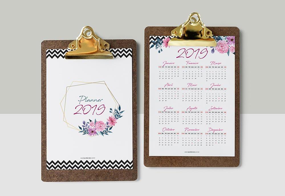 Planner 2019 para Download – Planner Semanal, Mensal, Anual, Cronograma Capilar, Fitness, Financeiro e mais. Versão Grátis e Versão Completa