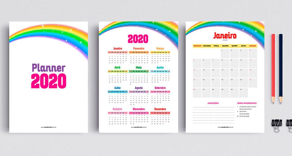 Planner 2020 para Download