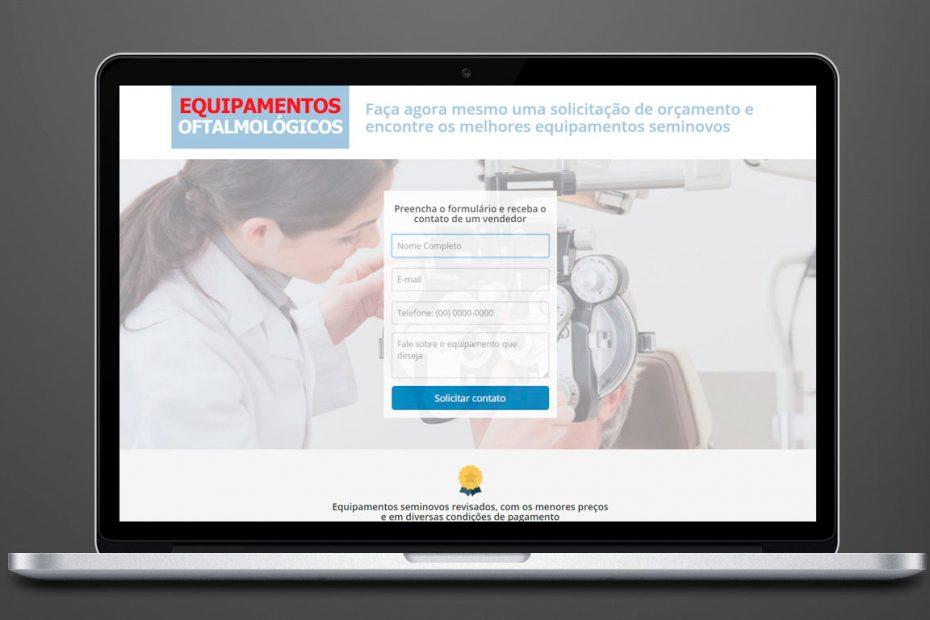 Landing Page - Equipamentos Oftalmológicos