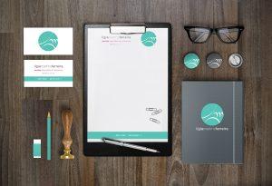 Dra Lígia Ferreira (dentista) - Logotipo + Cartão de Visitas + Receituário