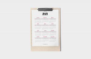 Planner 2021 para Baixar (Design Minimalista) Calendário 2021