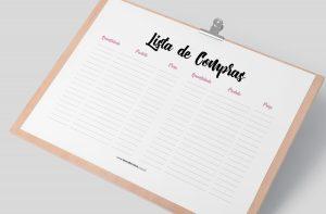 Planner 2021 para Baixar (Design Minimalista) Lista de Compras
