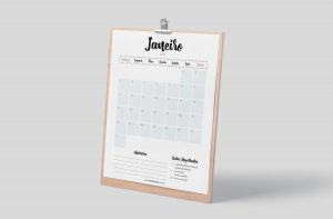 Planner 2021 para Baixar (Design Minimalista) Planner Mensal - Janeiro
