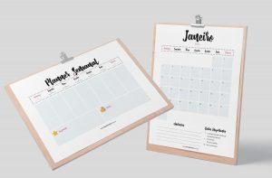 Planner 2021 para Baixar (Design Minimalista) Planner Semanal + Planner Mensal