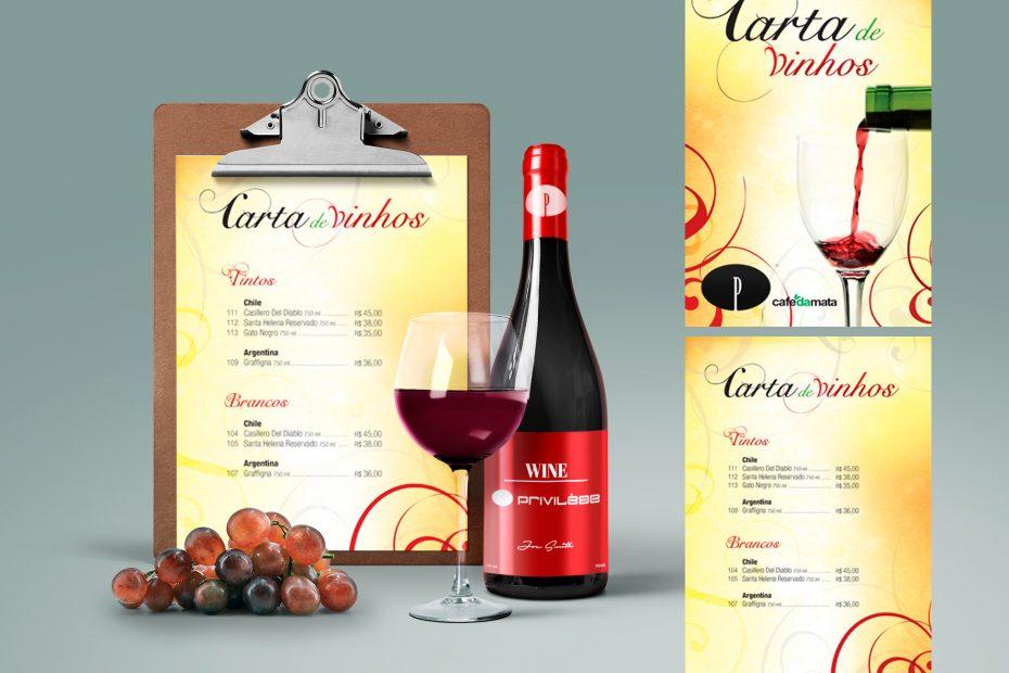 Privilège - Cardápio / Carta de Vinhos