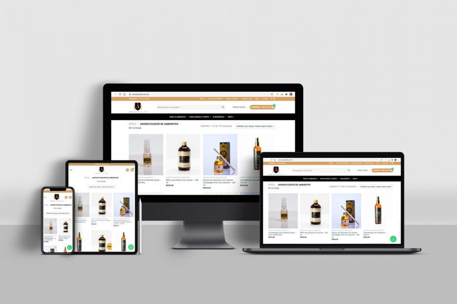 Site Responsivo / Loja Virtual - Ambientallis Aromas