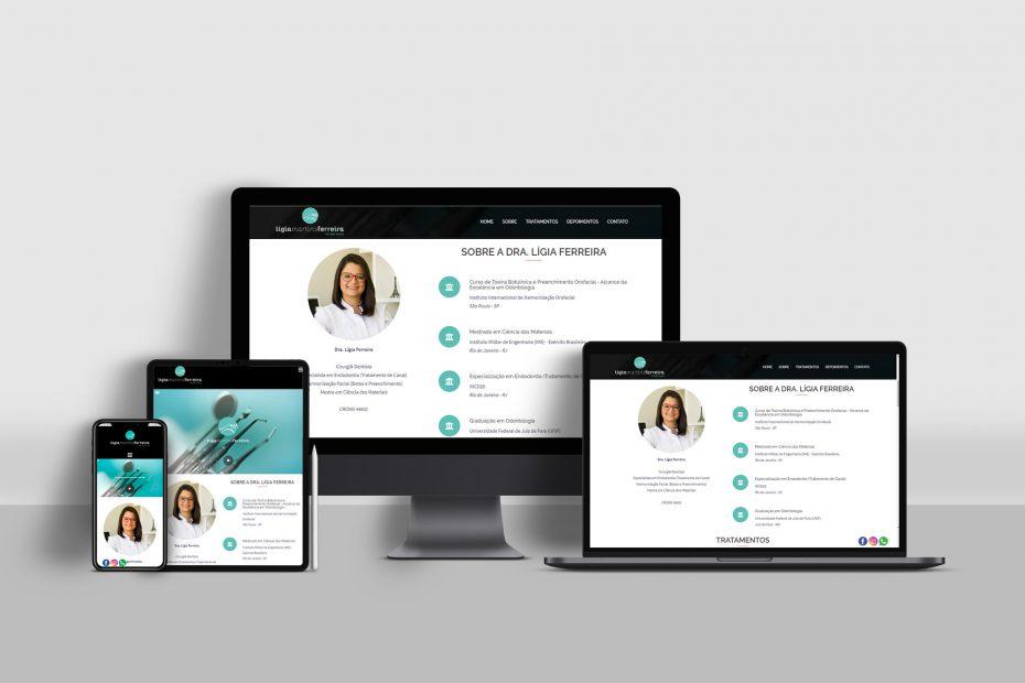Site Responsivo - Dra Lígia Ferreira (Dentista)